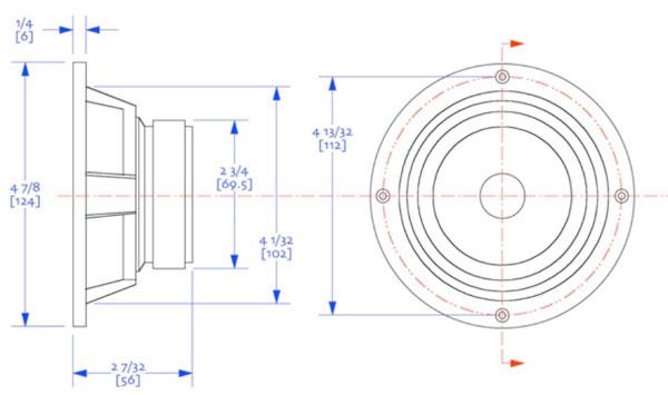 Mechanical drawing 124mm