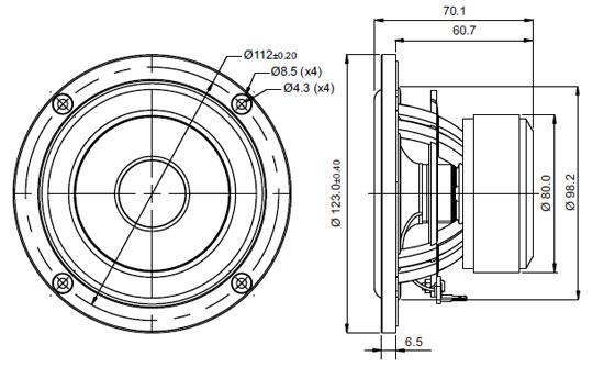 Mechanical Drawing - 123mm outside