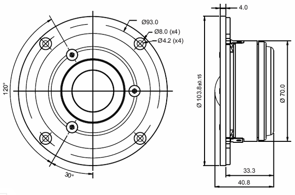 Mechanical Drawing - 103.8mm outside