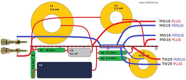 SBA-761 Crossover wiring schematic