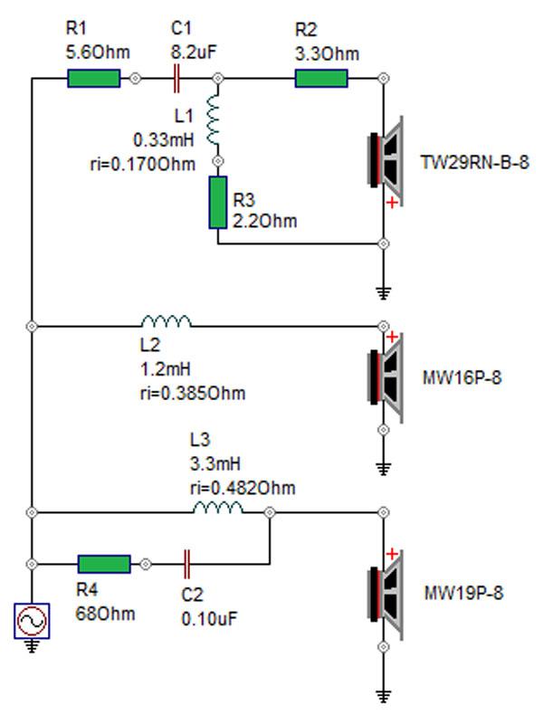 SBA-761 Crossover schematic