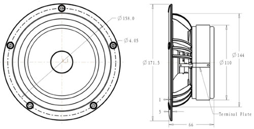 Mechanical drawing 171.5mm