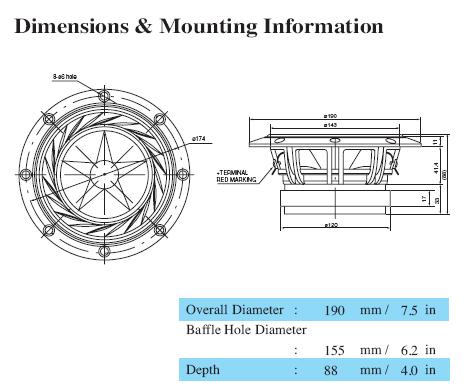 Mechanical drawing 190mm
