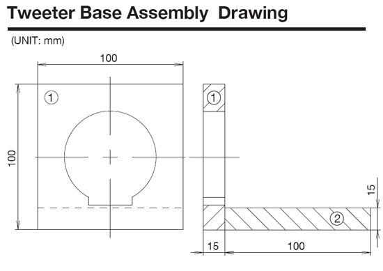 Top mount drawing plans
