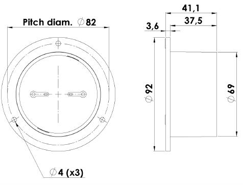 ScanSpeak D2008/8511 Mechanical Drawing