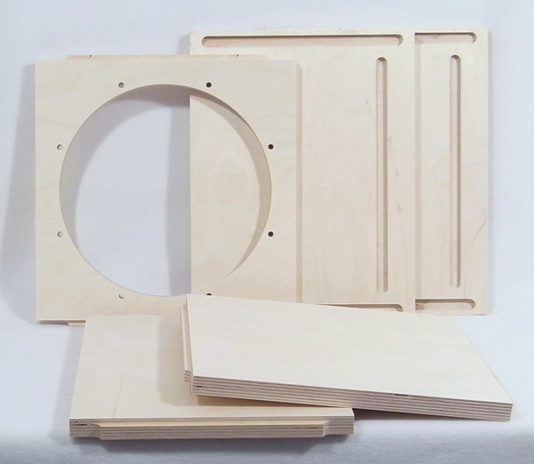 Open Baffle Subwoofer Flat Pack parts photo
