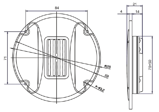 Mechanical drawing 120mm