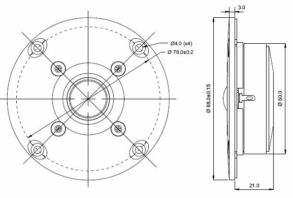 Mechanical Drawing - 88mm outside