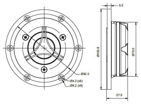 TW29BN mechanical drawing.  103.8mm outside
