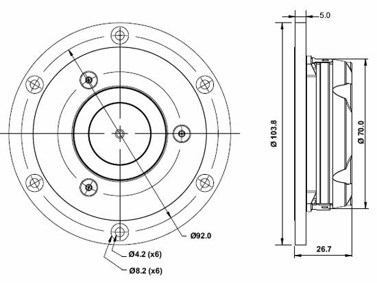 Satori Tw29rn B Ring Dome Tweeter With Neodymium Motor
