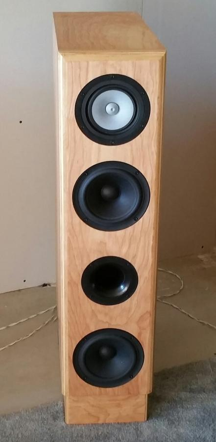 Front view of finished speaker box