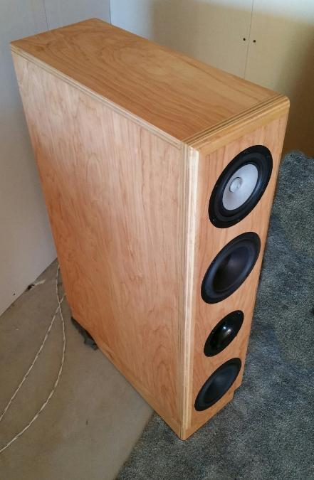 Another photo of the finished speaker