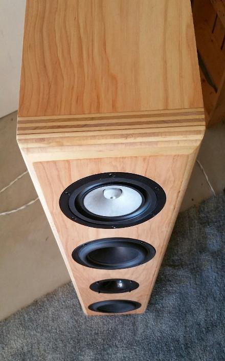 Photo of designer's finished speaker