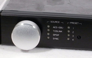 photo of miniDSP 4x10 HD control panel