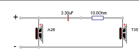 Seas A26 10 2 Way Kit Pair Based On The Classic A25 on tweeter schematic