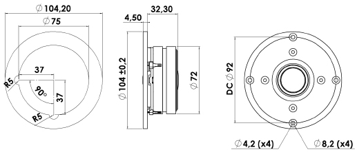 ScanSpeak Discovery D2608/9130 Mechanical Drawing