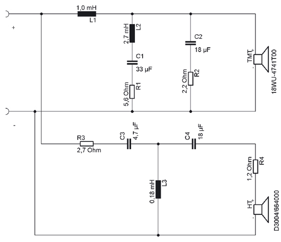 NADA schematic2 nada 2 way klang ton kit pair using illuminator drivers speaker and tweeter wiring diagram at virtualis.co