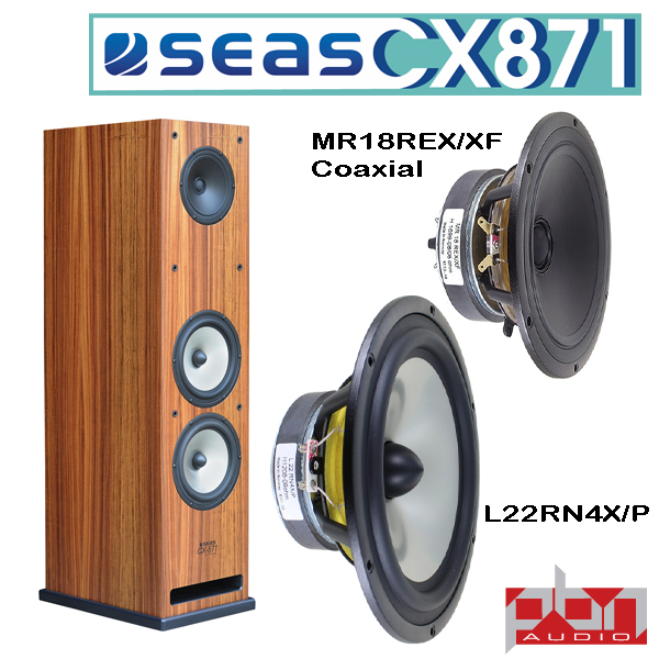 Seas CX9 Coaxial 9-Way Speaker Kit by Peter Noerbaek - Pair
