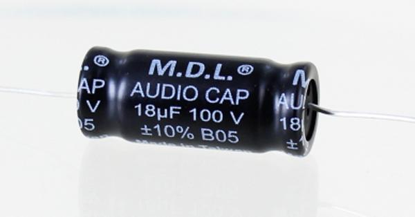 3fa7d8c26b MDL 18 mfd Non-Polar Electrolytic Capacitor 100V