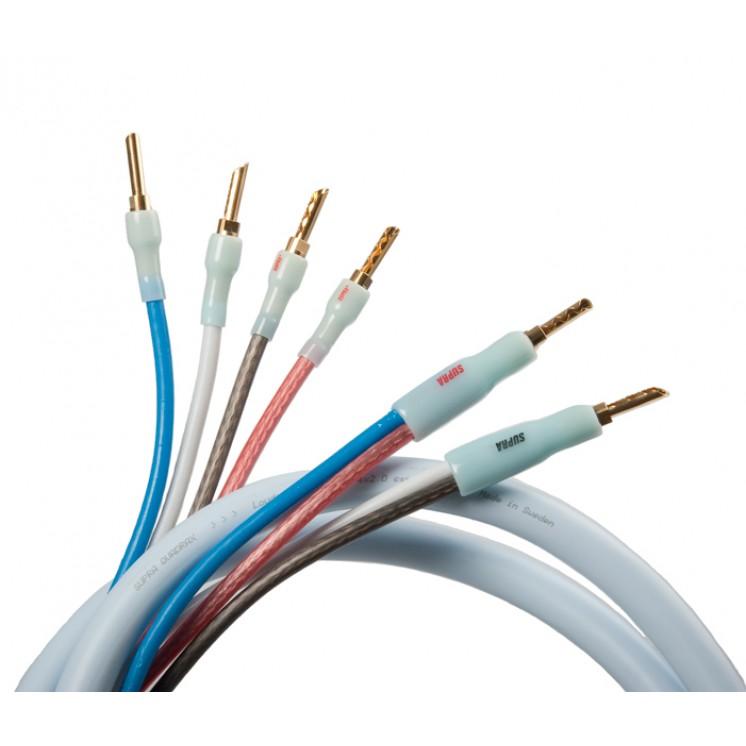 Supra Quadrax Speaker Cable- Factory Terminated Pair