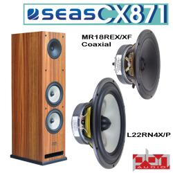 Seas CX871 Coaxial 3-Way Speaker Kit by Peter Noerbaek - Pair
