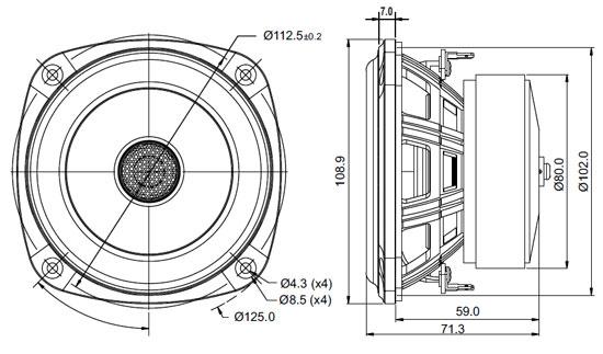 Mechanical Drawing - 108.9mm outside