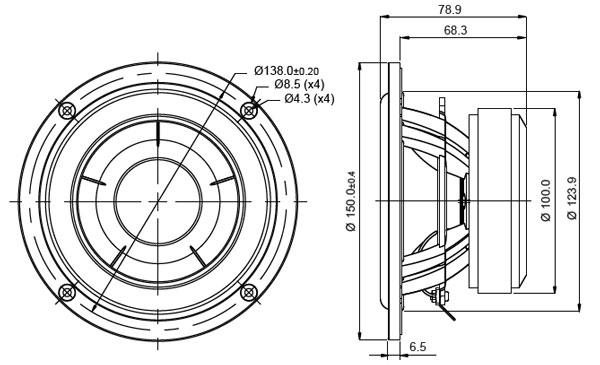 Mechanical Drawing - 150mm outside