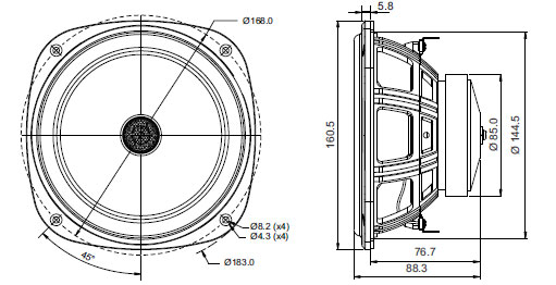 Mechanical Drawing - 160.5mm squarish