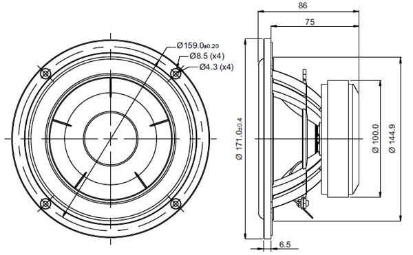 Mechanical Drawing - 171mm outside