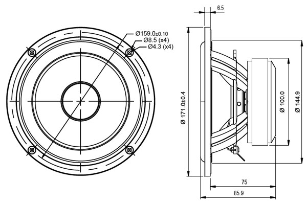 Mechanical Drawing - 171mm outside