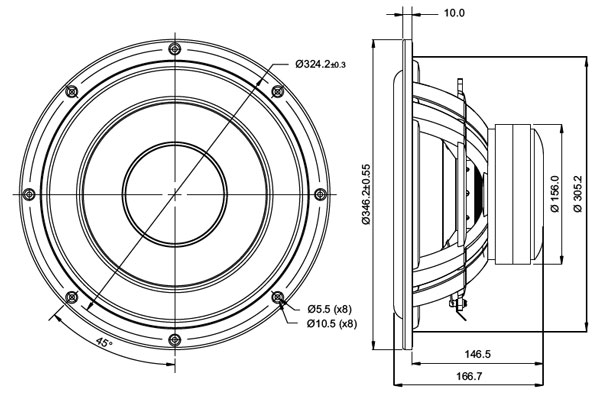 Mechanical Drawing - 346.2mm outside